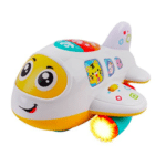 First Airplane | Sings, Lights Up and Moves Around | Gift ideas for 3 to 6 month old baby