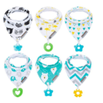 Drool Bibs & Teething toys   Gift ideas for babies  Baby toys from3 to 6 months
