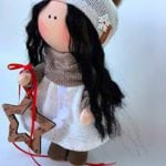 Handmade fabric dolls - as a gift idea