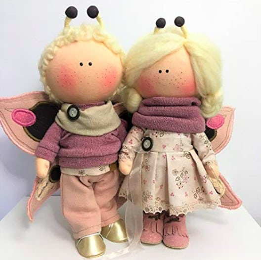 Handmade fabric dolls